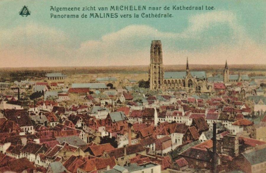Mechelen van boven uit gezien